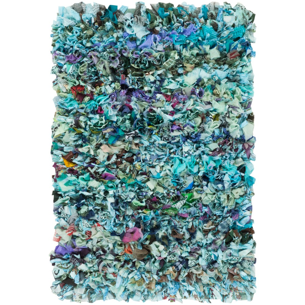 6'X9' Woven Fleck Area Rug Blue - Safavieh, Blue/Multi-Colored