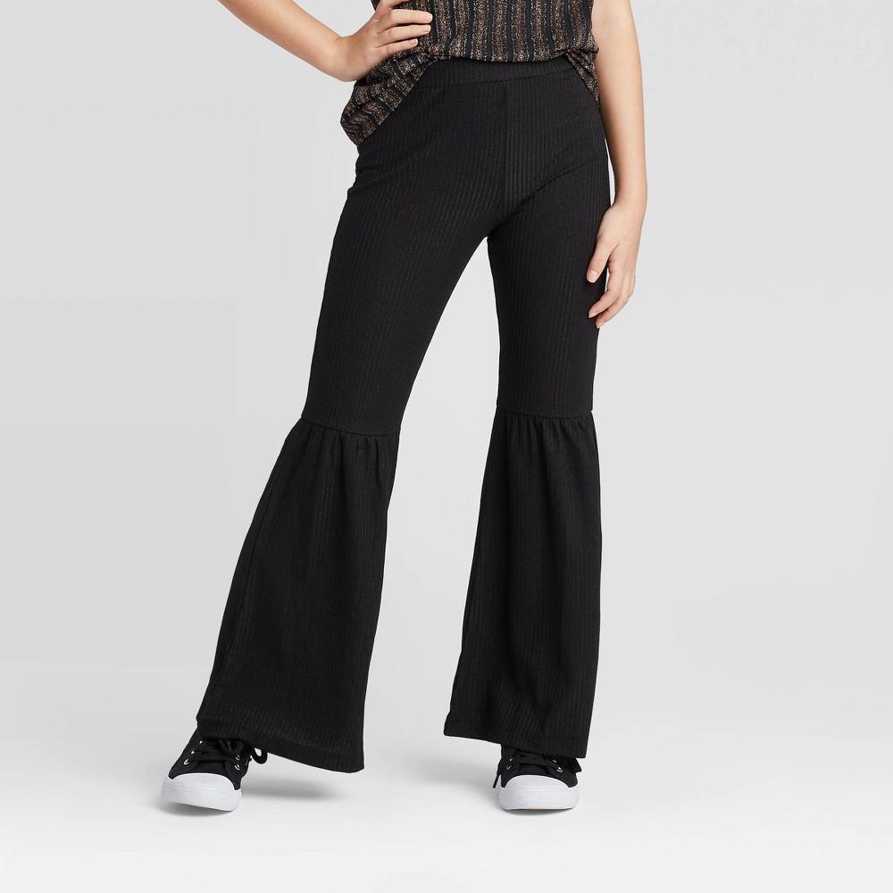 60s 70s Kids Costumes & Clothing Girls & Boys Girls39 Bell Bottom Metallic Flare Pants - art class8482 $15.29 AT vintagedancer.com