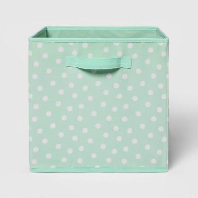 """13"""" Fabric Dot Storage Bin Mint - Pillowfort™"""