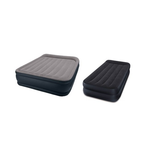 Intex Queen and Twin Pillow Rest Air Mattress Airbed Beds with Built-In Air Pump - image 1 of 4