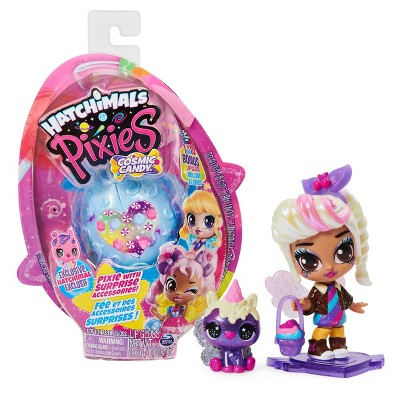 Hatchimals Pixies Cosmic Candy Pixie with 2 Accessories and Exclusive CollEGGtible