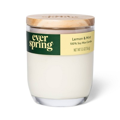 Lemon & Mint 100% Soy Wax Candle - Everspring™