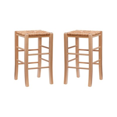 Set of 2 Gianna Backless Counter Height Barstools - Linon