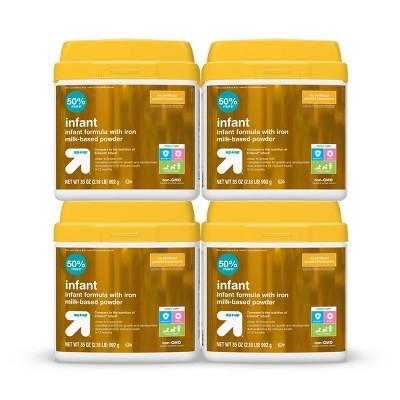 Infant Formula with Iron Milk-Based Powder - 35oz/4pk Each - up & up™