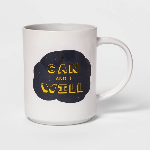 46oz Stoneware I Can and I Will Mug White - Room Essentials™ - image 1 of 1
