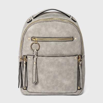 VR NYC Multi Pocket Backpack - Light Gray