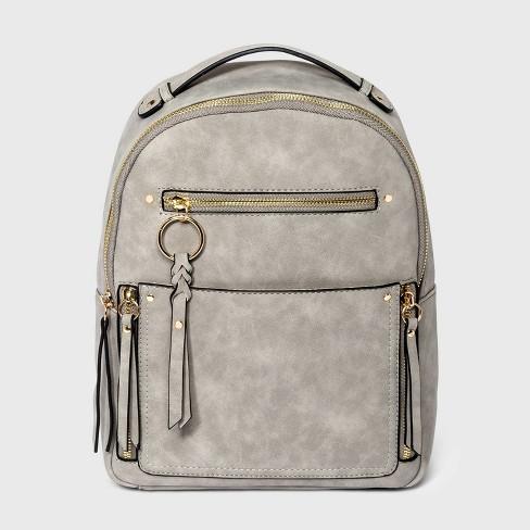 VR NYC Multi Pocket Backpack - Light Gray - image 1 of 4