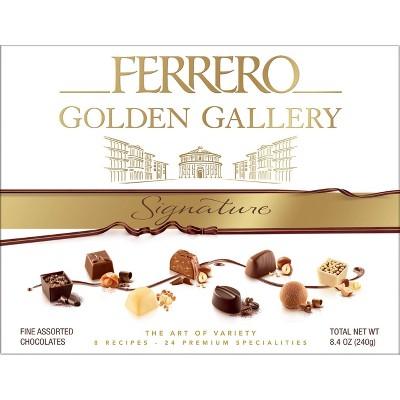 Ferrero Rocher Golden Gallery Chocolate Gift Box - 8.4oz/24ct