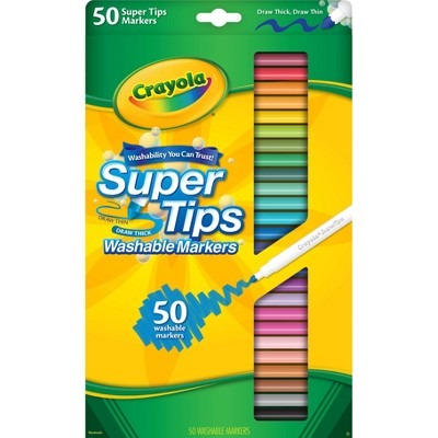 Crayola 50ct Super Tips Washable Markers