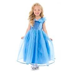 Little Adventures Girls' Deluxe Cinderella Butterfly Dress - XL, Blue