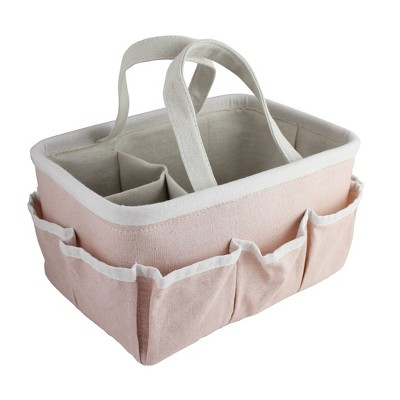 Beriwinkle Linen Diaper Caddy - Pink Sparkle