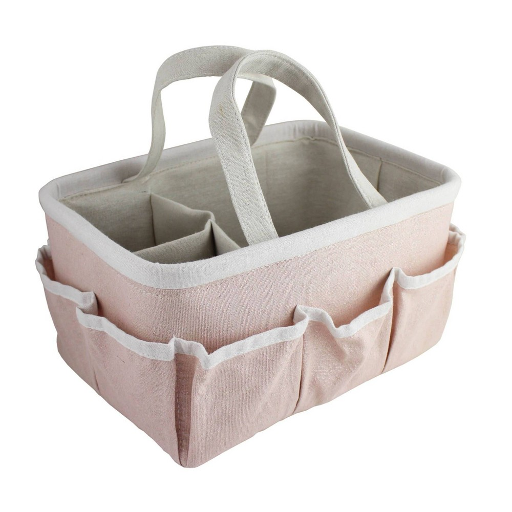 Image of Beriwinkle Linen Diaper Caddy - Pink Sparkle