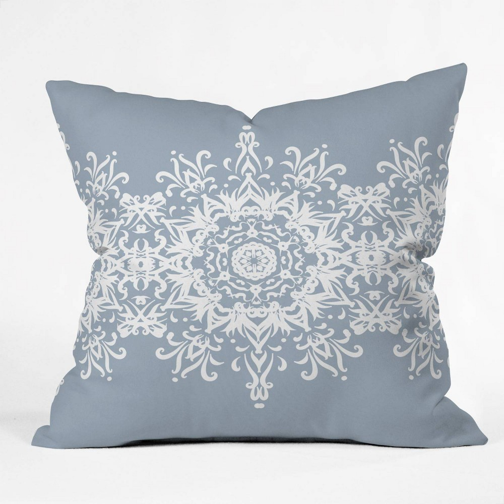 16 34 X16 34 Lisa Argyropoulos Snowfrost Square Throw Pillow Blue Deny Designs