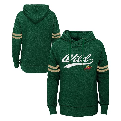 NHL Minnesota Wild Girls' OT Fleece Hoodie - image 1 of 3