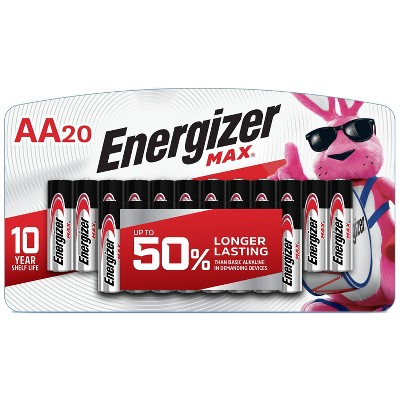 Energizer 20pk MAX Alkaline AA Batteries