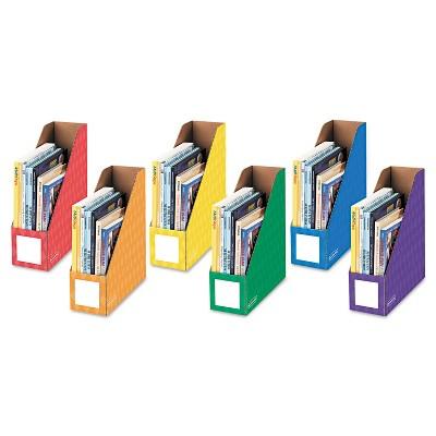 Bankers Box Cardboard Magazine File 4 1/4 x 12 1/4 x 13 Assorted 6/PK 3381901
