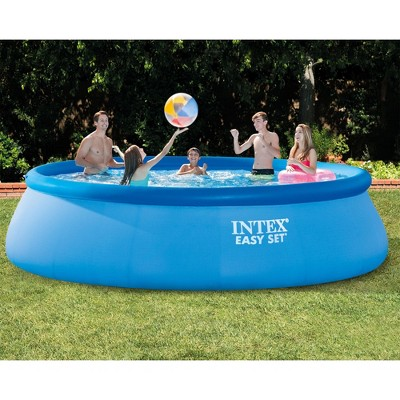 "Intex 15' x 42"" Inflatable Swimming Pool w/ pool set and Intex 15-Ft  Pool Cover"