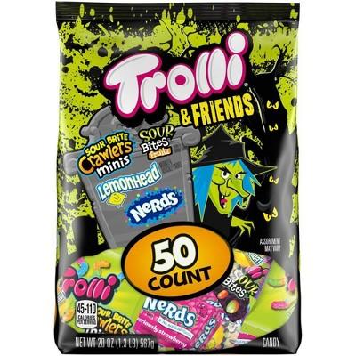 Trolli & Friends Halloween Sugar Candy Variety Bag - 20oz/50ct
