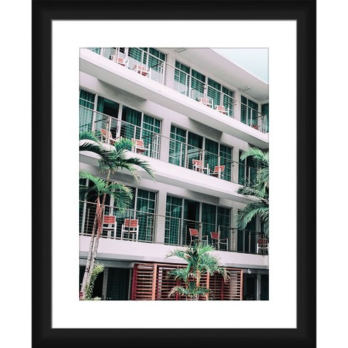 Hotel Balcony Framed and Matted Print - PTM Images - image 1 of 2