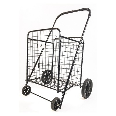 ATHome Large Shopping Utility Storage Cart Black