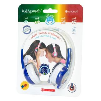 Buddyphones Discover Kids On-Ear Wired Headphones - Blue