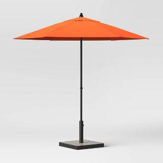 7.5' Round Patio Umbrella Orange - Room Essentials™