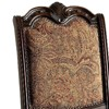 Set of 2 Traditional Fabric Side Chairs Brown - Benzara - image 2 of 4