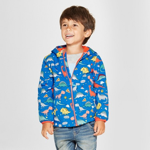 a7e57c48a620 Toddler Boys  Dino Softshell Jacket - Cat   Jack™ Blue   Target