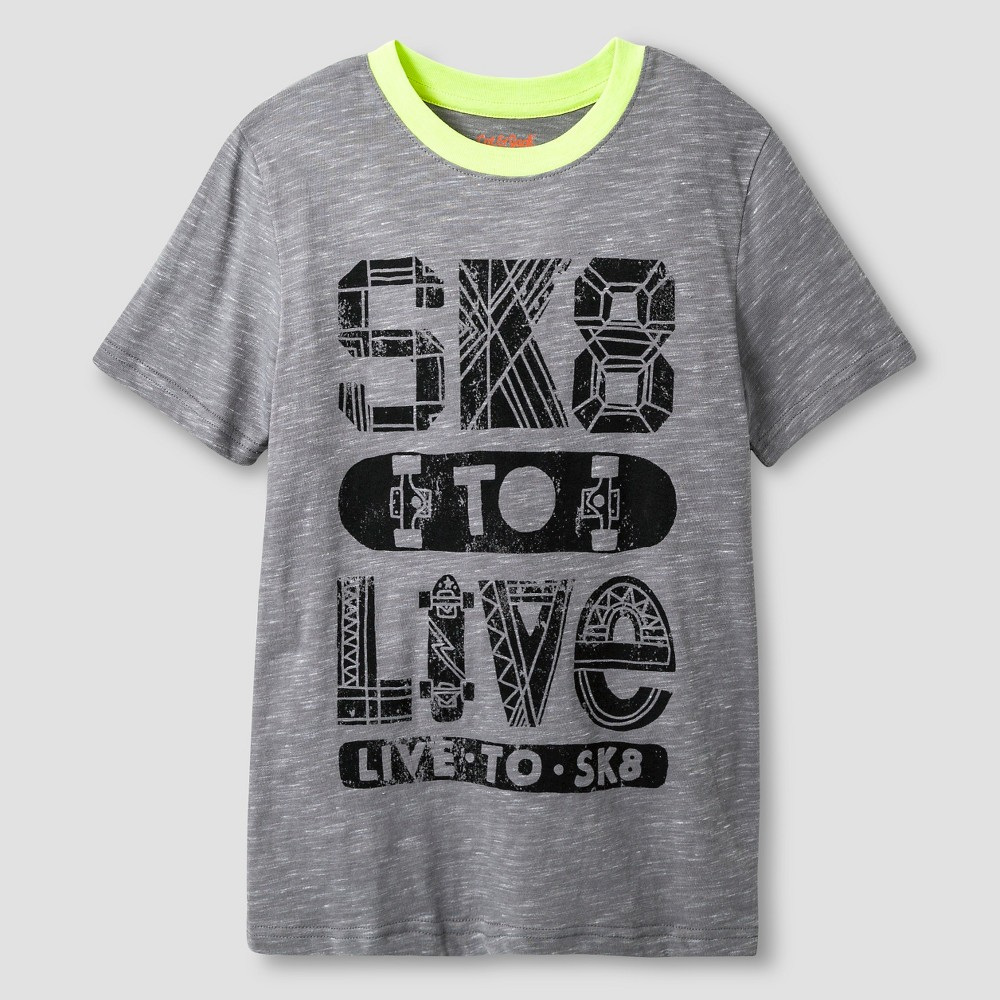 Boys' Sk8 to Live Graphic T-Shirt - Cat & Jack Gray S