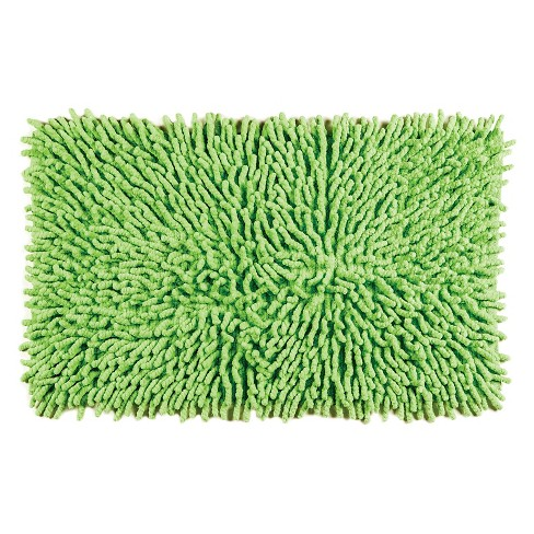 Chenille Basics Bath Rug Green