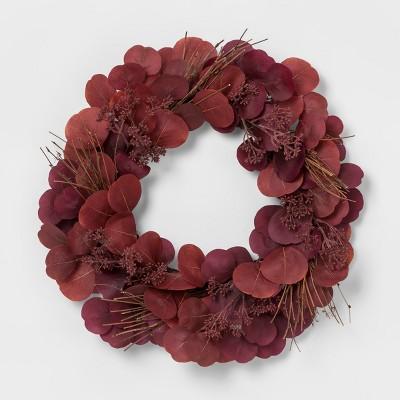 Wreath Dried Leaf - Red - Threshold™