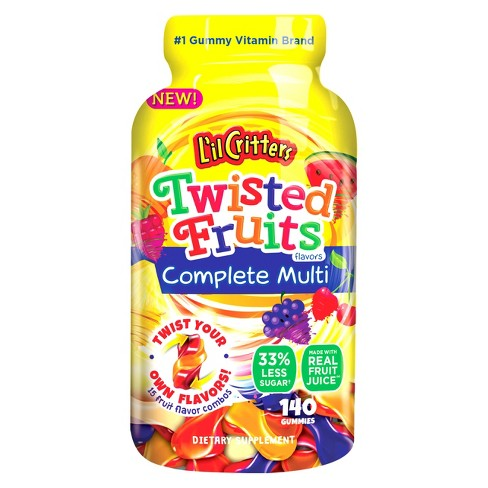 L'il Critters Multivitamin Dietary Supplement Gummies, Twisted Fruits, 140ct - image 1 of 5