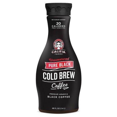 Califia Farms Pure Black Unsweetened Cold Brew Coffee - 48 fl oz - image 1 of 3