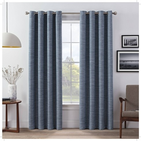 Set of 2 Wyckoff Blackout Window Curtain Panels - Eclipse - image 1 of 4