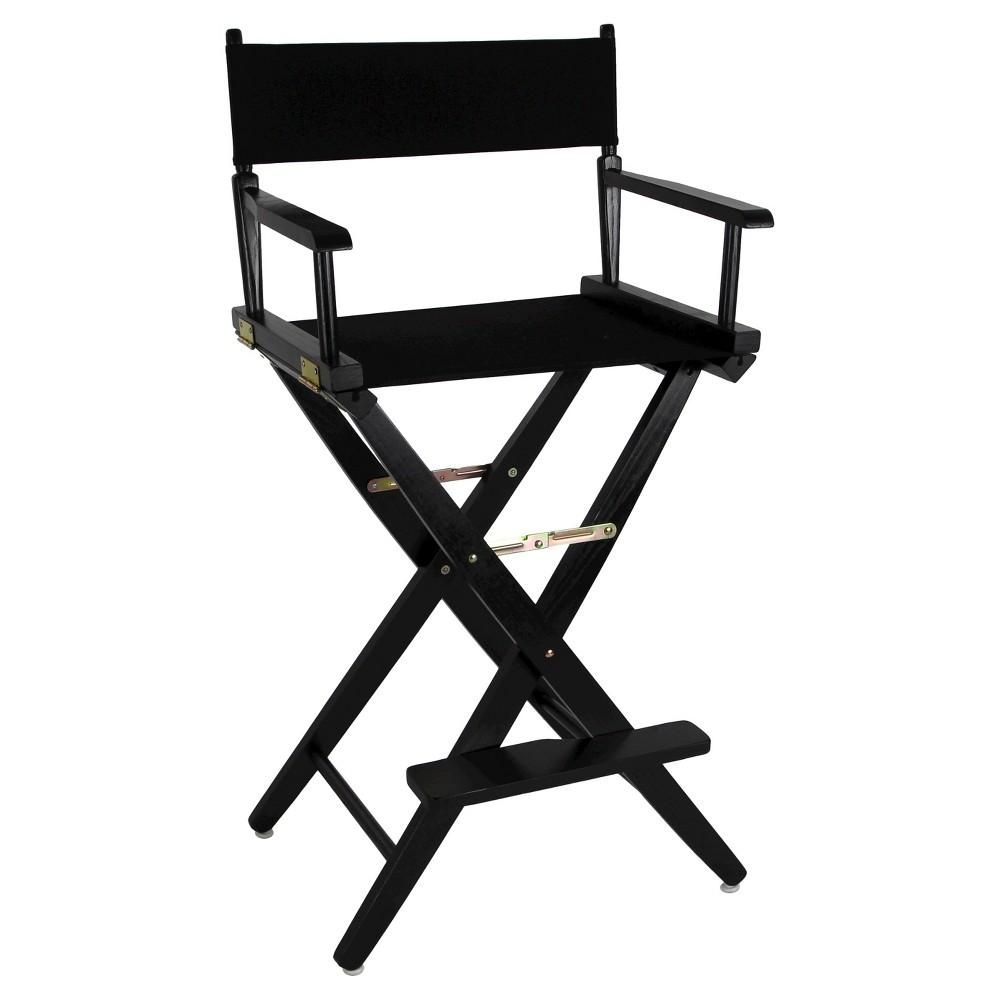 Extra Wide Directors Chair - Black Frame/Black