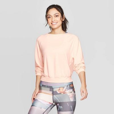 Women's Cozy Mesh Back Long Sleeve Sweatshirt   Joy Lab by Joy Lab