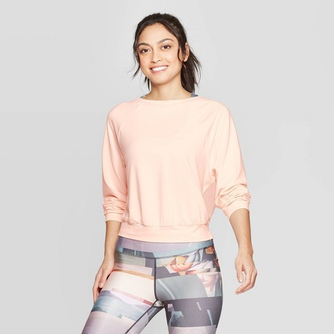 Women's Cozy Mesh Back Long Sleeve Sweatshirt - JoyLab™ - image 1 of 2