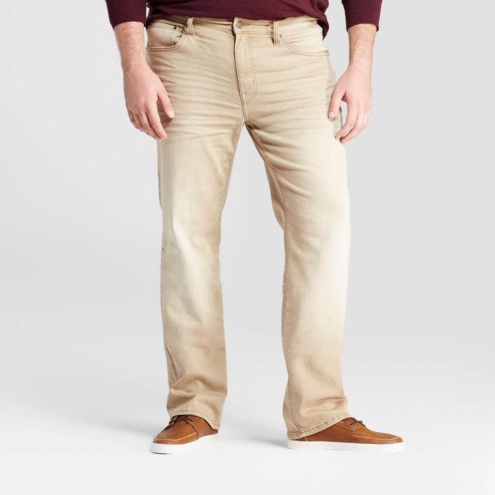 Men's Big & Tall Slim Straight Fit Jeans - Goodfellow & Co Khaki 46x34, Beige