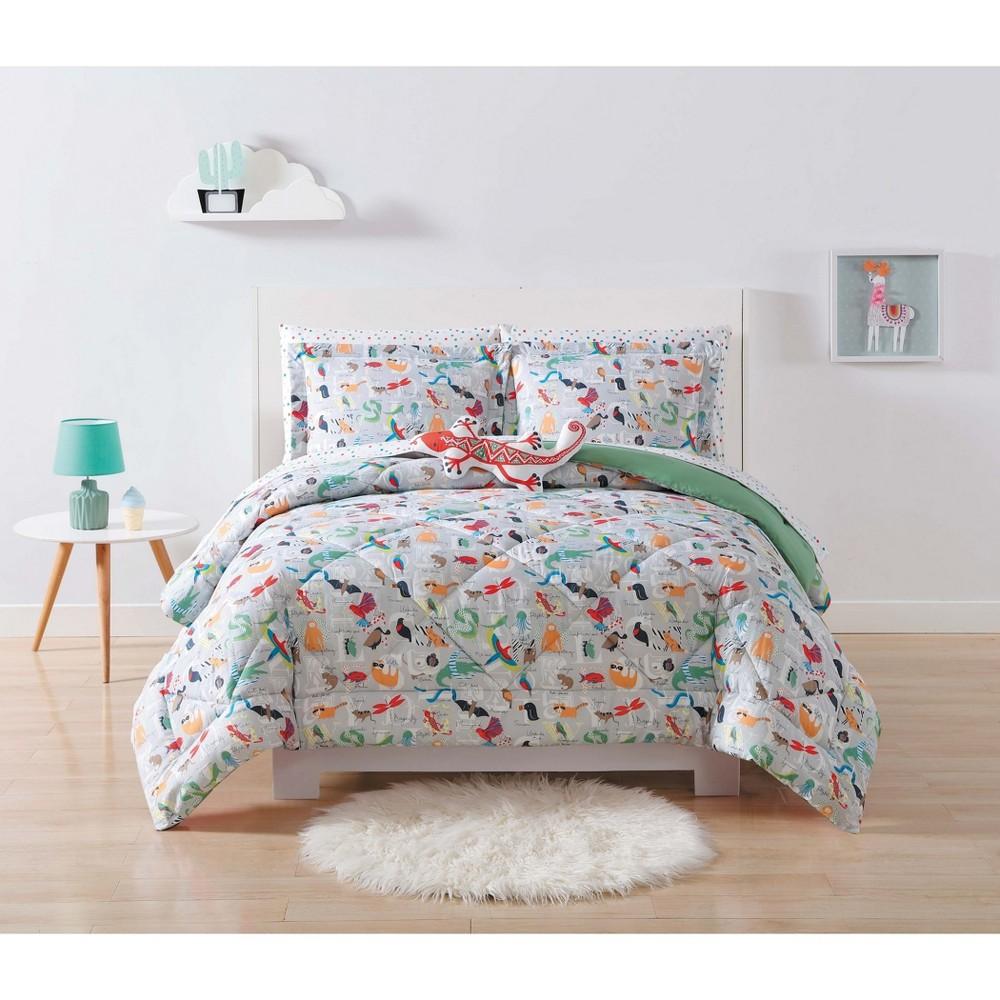 Full/Queen Animal Alphabet Comforter Set - My World, Multicolored