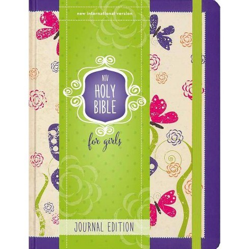 Niv, Holy Bible for Girls, Journal Edition, Hardcover, Purple, Elastic Closure - by  Zondervan - image 1 of 1