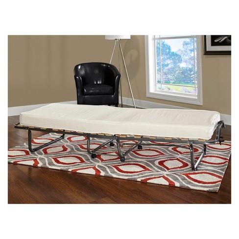 Luxor Folding Bed White Twin Linon Home Decor Target
