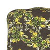 Mitch Tufted Round Ottoman Brown Floral - Cloth & Co. - image 3 of 4