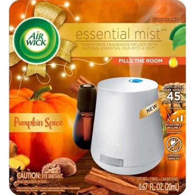 Air Wick Essential Mist Starter Kit Free Refill Air Freshener - Pumpkin Spice - 0.67 fl oz