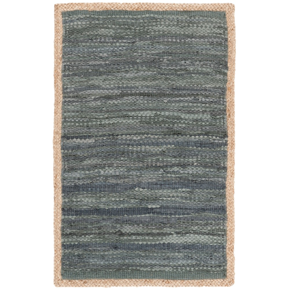 6'X9' Woven Solid Area Rug Gray - Safavieh, Gray/Natural