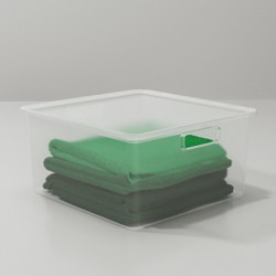 Plastic Sweater Bin with Lid Clear - Made By Design™