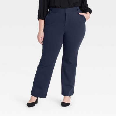 Women's Plus Size Ponte Pants - Ava & Viv™ Navy