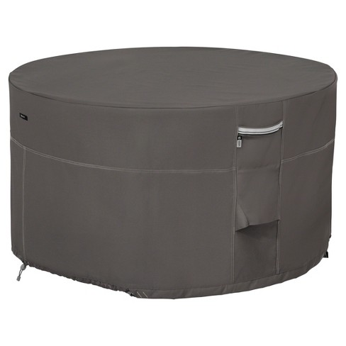 Ravenna Full Coverage Fire Pit Table Cover - Dark Taupe - Classic Accessories - image 1 of 4