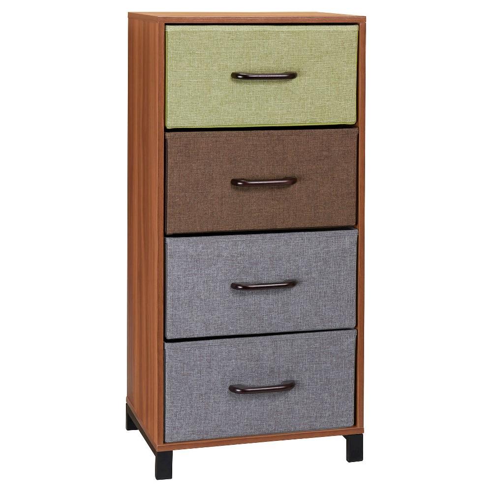 Household Essentials - 4-Drawer Storage Chest - Honey Maple (Brown)