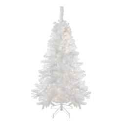 Northlight 6.5' Prelit Artificial Christmas Tree LED Single Plug Medium Iridescent Pine White - Multi Lights