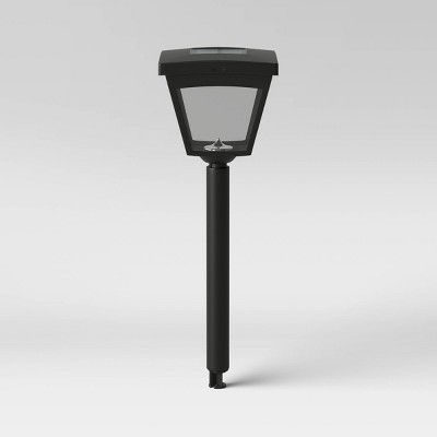 LED Solar Pathway Plastic Street Light Black - Threshold™